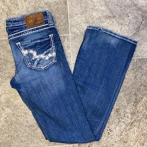 Big star low rise boot cut jeans